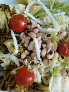Delicia de salada com Fradinho.