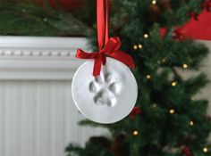 Create a pawprint ornament!