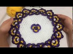 Menekşe çiçekli lif yapımı - YouTube