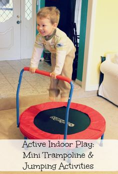 Active Indoor Play Mini Trampoline and Jumping Activities
