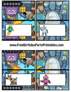 Free Robot Birthday Party Printables