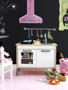The DUKTIG mini kitchen is one of the hero products in the new IKEA advert. It's great for encouraging role play in children which helps develop their social skills.
