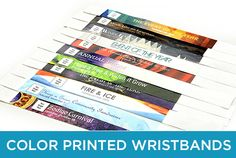 Full bleed color printed wristbands from TicketPrinting.com