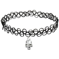 Cozylife Girls Black Stretch Gothic Tattoo Henna Collar Choker... ($3.98) ❤ liked on Polyvore featuring choker