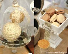 shabby chic dessert table - bridal shower theme