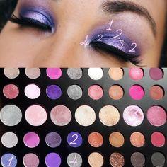 Morphe Such a Gem Palette Gem Makeup, Rave Makeup, Purple Eye Makeup, Eye Makeup Steps, Makeup Eye Looks, Skin Makeup, Beauty Makeup, Makeup Goals, Fall Eyeshadow