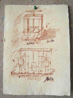 una macchina per fabbbricare carta