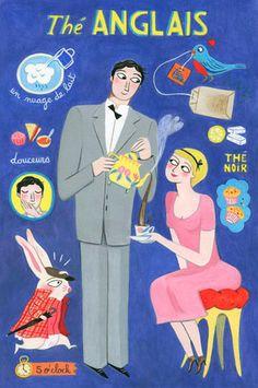 By Anne Laval, 2010, Postcard: English tea.