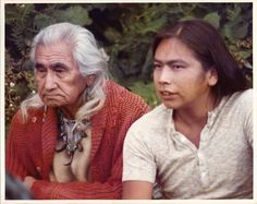Chief Dan George and Pat John on The Beachcombers years ago. Loved this show and had massive crush on Pat. :) On Chief Dan George too to be honest. Native Indian, Native American Indians, Native Americans, Chief Dan George, 1970s Tv Shows, Spirit Bear, I Am Canadian, Old Shows, The Old Days