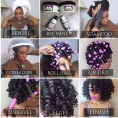 Click for the perfect way to detangle your hair to achieve a smooth set like this