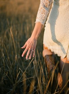 PATTY- Need this Engagement shot -- Love that it shows the ring and the boots :)