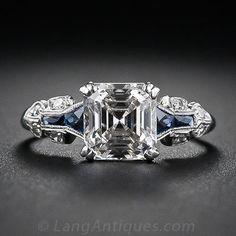 Asscher-Cut Diamond Art Deco Ring, ca. 1930s