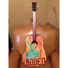 Rodeo inspired painted guitar