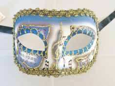 Venetian Masquerade Masks, Venice, Cuff Bracelets, Captain Hat, Dark Blue, Holidays, Hats, Gold, Stuff To Buy