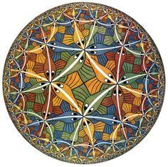 M.C. Escher - Circle Limit III. Woodcut, 1959