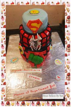 Gâteau Supers Héros :