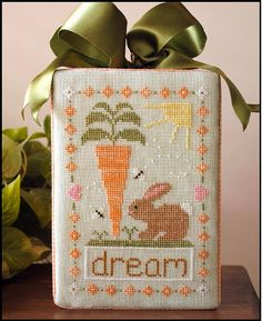 easter cross stitch pattern dream big at thecottageneedle.com