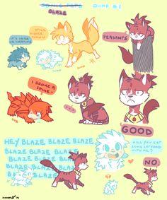Sonic pets: Blaze dump by DiachanX on DeviantArt
