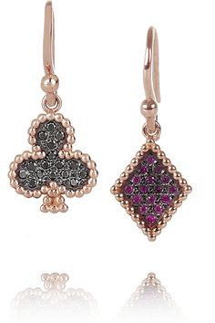 DIANE KORDAS  Club and Diamond 18-karat rose gold, diamond and sapphire