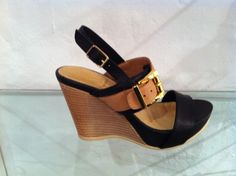 Black 'Allegra' wedges by Francesca.