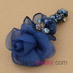 Elegant blue color flower model hair clip