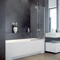 AMBITION 1 75130 (750 x 1300 | Transparent) Vanová zástěna  #vana #koupelna #bps_koupelny #bps #sprcha #ambition #modernikoupelna #design #inspirace #vseprokoupelny