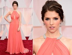 Love the neckline on this dress -- Anna Kendrick In Thakoon – 2015 Oscars