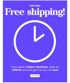 Last day: FREE SHIPPING! If you need it before Christmas, order by 11 PM ET. SHOP NOW. Gif Fashion, Retail Branding, Email Marketing, Marketing Ideas, Email Design Inspiration, Kate Spade Saturday, Email Campaign, Before Christmas, Gift Guide