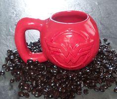 "Handmade ""Wonder Woman"" Kettlebell Coffee Mug 16 oz ~ Ceramic Mug by Clazydayceramics on Etsy https://www.etsy.com/listing/227195016/handmade-wonder-woman-kettlebell-coffee"