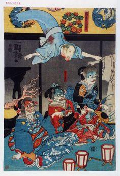 歌川国芳「当吾の亡霊」「こし元」1851年 (939×1380) Ghost