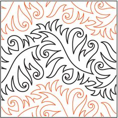 Agave quilting pantograph pattern by Patricia Ritter of Urban Elementz