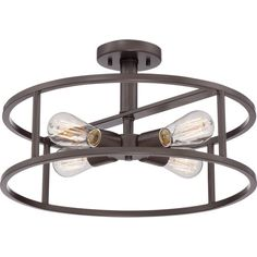 "Quoizel New Harbor 4 Light Semi-Flush Mount $249.99      Fixture Height - Top to Bottom: 10.5""     Fixture Width - Side to Side: 18""     Fixture Depth - Front to Back: 18"""