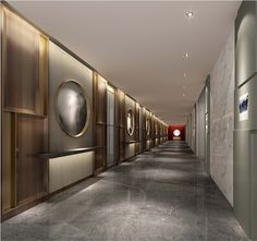深圳国际仲裁院室内办公空间设计公司 Hotel Hallway, Hotel Corridor, Corridor Lighting, Hall Lighting, Elevator Lobby, Corridor Design, Modern Interior, Interior Design, Digital Ink