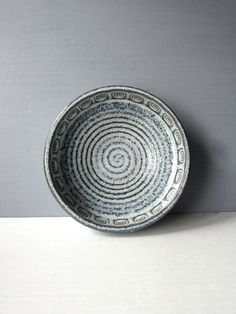 Vintage Soholm Denmark Ceramic Bowl with Concentric by SuzettaS