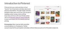 Want to learn more about Pinterest? We've got a class coming up.