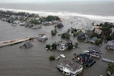 The Inlet formed in Mantoloking by Hurricane Sandy  Aerial view of Mantoloking near the Mantoloking Bridge. Date and time of photo are unknown. (Image from New Jersey National Guard