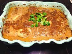 Kycklingfilé i form med gräddig konjakssås Lchf, Lasagna, The Best, Keto Recipes, Chicken Recipes, Bacon, Food And Drink, Favorite Recipes, Dinner