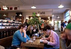 Ray's Jazz Cafe at Foyles (bookshop), Charing Cross Road, London. Enjoy a coffee before or after browsing the well-stocked jazz selection. One of the best bookshops ever! Bookstore Design, Library Design, Jazz Cafe, Great Coffee, Thesis, Whole Food Recipes, Britain, Natural Hair Styles, Sweet Treats