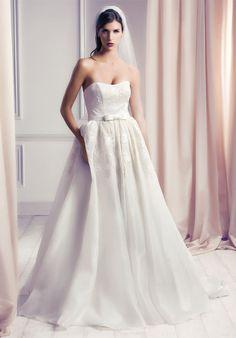 Ball Gown Strapless Floor Length Wedding Dress Morgan