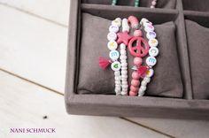Freundschaftsbänder - ♥ Perlenarmband als SET  ♥ 4-teilig - ein Designerstück von NaniSchmuck bei DaWanda