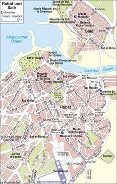 Rabat und Salé - Stadtplan