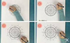 Learn how to draw a mandala with this step-by-step guide!