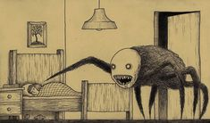 Artist Draws Terrifying Monsters On Sticky Notes | Bored Panda