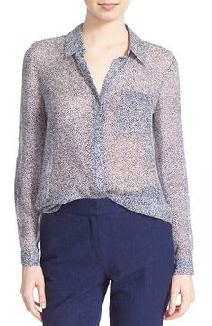 DIANE VON FURSTENBERG 'Lorelei Two' Stingray Print Silk Blouse. #dianevonfurstenberg #cloth #