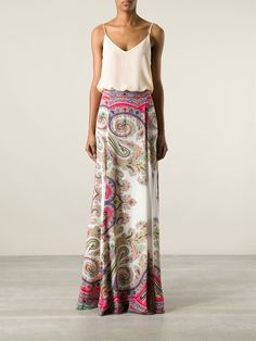 No surprise that this is out of stock! :/ Etro Printed Maxi Skirt - - Farfetch.com