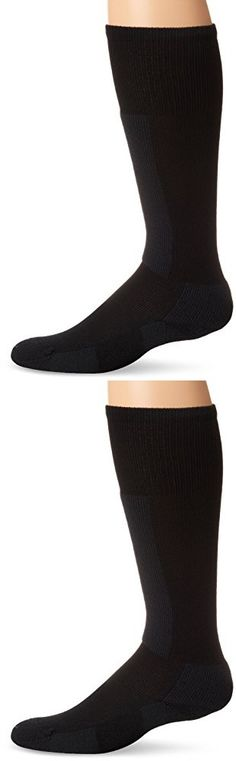 Thorlo Women's Performance Ski Sock-Medium-Black Diamond, Diamond Black, Medium