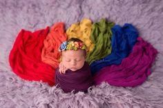 Jewel Toned Newborn Girls 7 PIECE Wrap Set {Jewel tones} • Rainbow Baby Line • Baby Wrap • Photo Prop | READY TO SHIP • by Sew Trendy