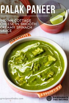This palak paneer recipe is a comforting authentic Indian recipe that is filled with aromatic flavors and ingredients. Taste just like palak paneer found in the restaurant, except even better. #palakpaneer #Indian recipes #dassanasvegrecipes Best Paneer Recipes, Homemade Paneer Recipe, Indian Paneer Recipes, Veg Recipes, Curry Recipes, Indian Food Recipes, Vegetarian Recipes, Cooking Recipes, Punjabi Recipes