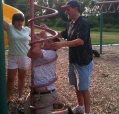 funny playground fail