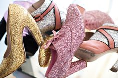 Nicolette Mason -- photographed by Alexandra Frumberg. Love her shoe collection! #sparkling